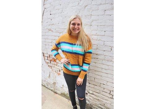 Honey Varisty Sweater