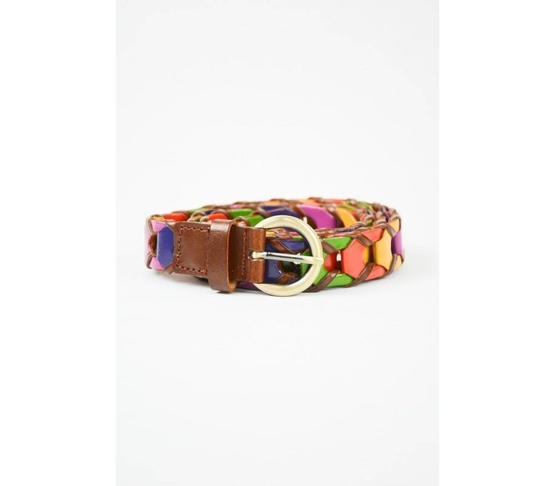 Multicolored Rope Belt