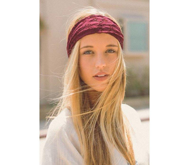 Burgundy Lace Headwraps