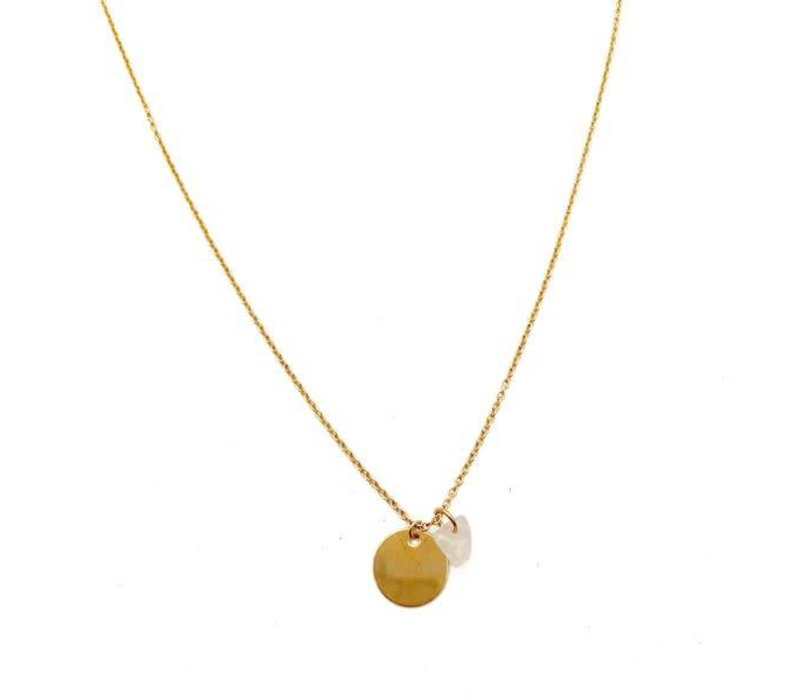 24k Gold Plated Whisper Crystal Necklaces-11 Stone options