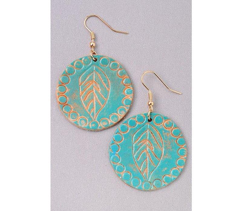Pochahontas Feather Leaf Earrings