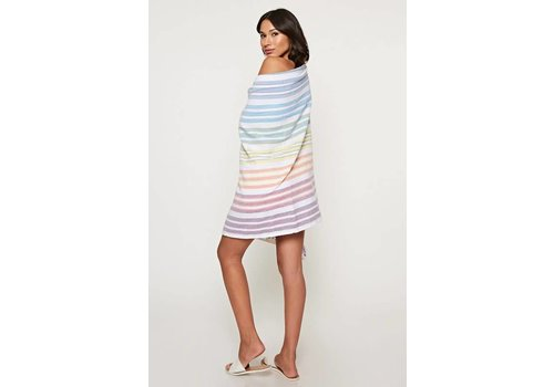 Boho Resort Beach Towel in Rainbow Stripes