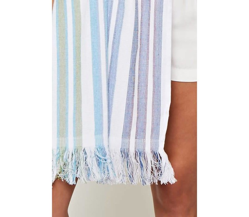 Boho Resort Beach Towel in Rainbow Stripes