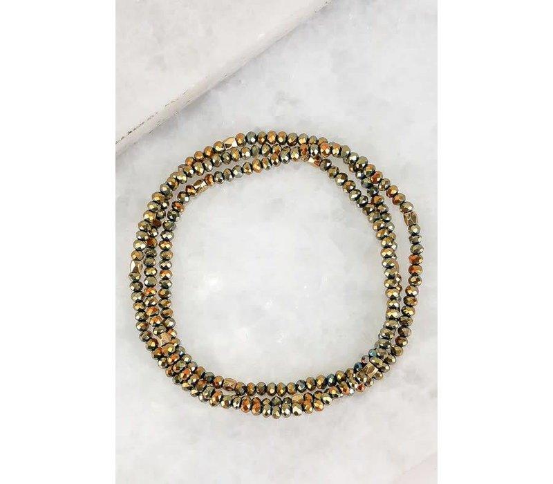 2 in 1 Dainty Wrap Bracelet & Necklace - 7 Color Choices