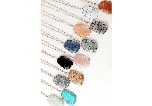 Cat Eye Natural Stone Necklaces- SHOP FAVORITE!