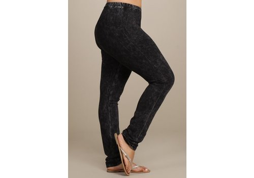 CURVY Mineral Wash Black Leggings
