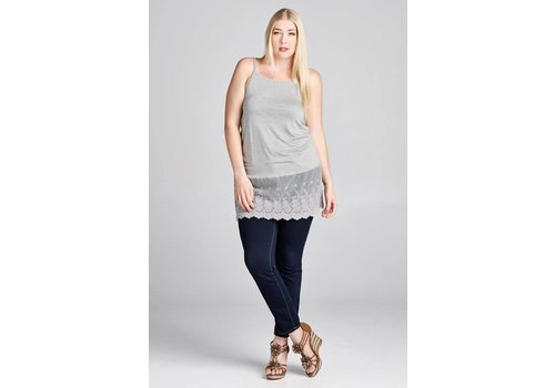 NEW LOWER PRICE- Gray Lace Extender (S-3X)