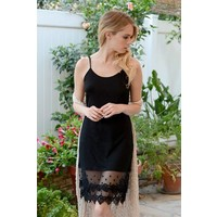 NEW LOWER PRICE- Black Lace Extender (S-3X)