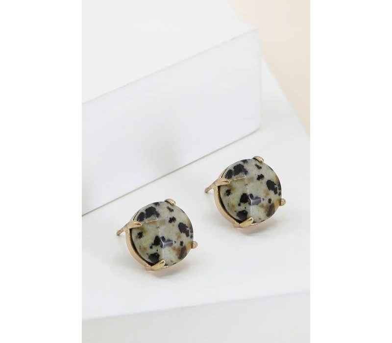 Natural Stone Stud Earrings