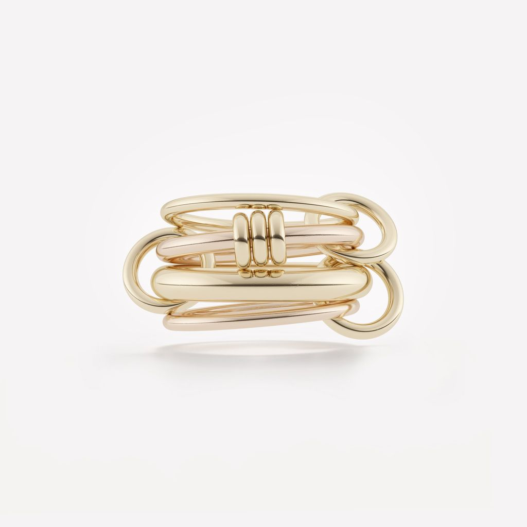 SPINELLI KILCOLLIN 18K YELLOW & ROSE GOLD ARIES RING 6.5