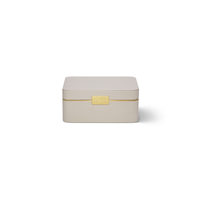 AERIN AERIN BEAUVAIS LEATHER JEWELRY BOX IN PEBBLE