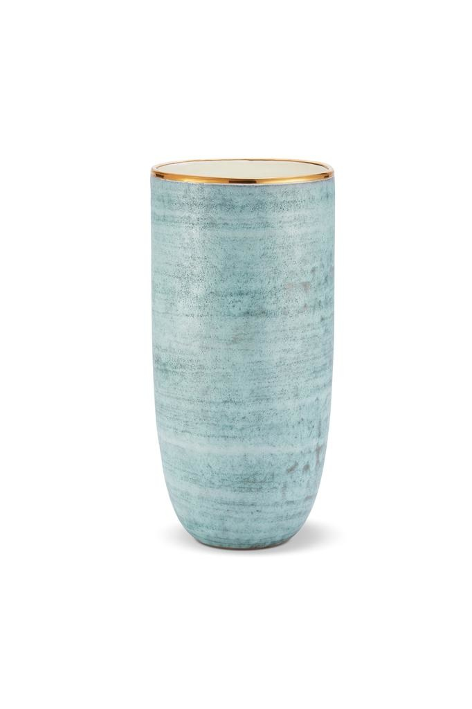 AERIN AERIN CALINDA TALL BLUE GROTTO VASE