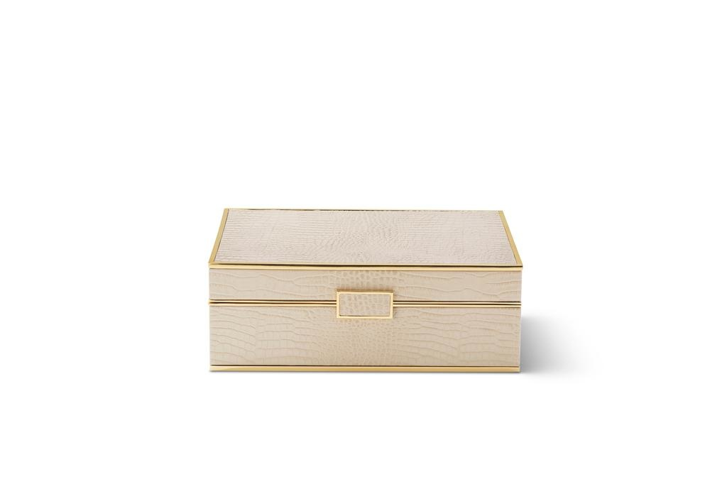 AERIN AERIN CLASSIC CROC LARGE JEWELRY BOX