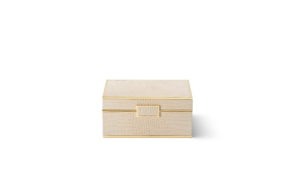 AERIN AERIN CLASSIC CROC SMALL JEWELRY BOX