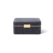 AERIN AERIN BEAUVAIS VELVET JEWELRY BOX DUSK BLUE