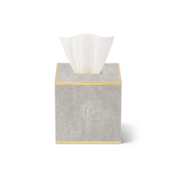 AERIN AERIN CLASSIC SHAGREEN TISSUE BOX COVER DOVE