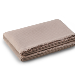 AERIN AERIN NOE CASHMERE THROW DUSTY QUARTZ