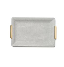 AERIN AERIN SMALL SHAGREEN VANITY TRAY DOVE