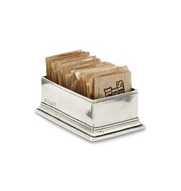 MATCH MATCH PEWTER SUGAR PACKET HOLDER