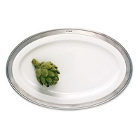 MATCH MATCH PEWTER CONVIVIO LARGE OVAL SERVING PLATTER