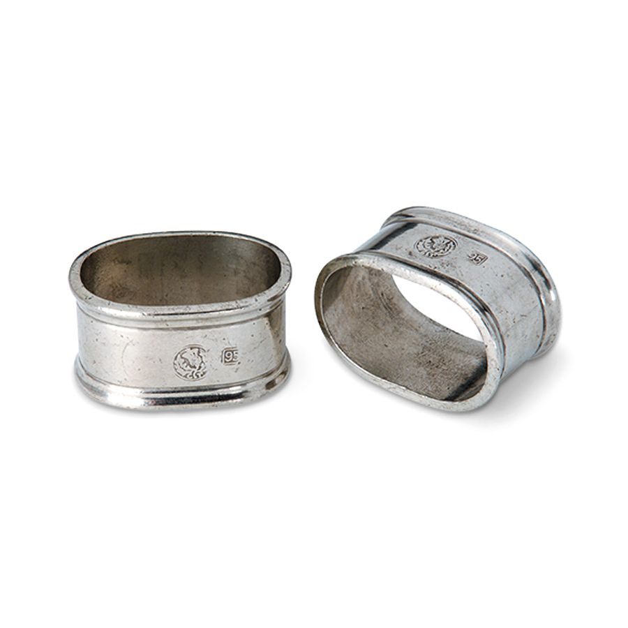 MATCH MATCH PEWTER NAPKIN RINGS