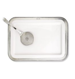 MATCH MATCH PEWTER RECTANGULAR LARGE LUISA PLATTER