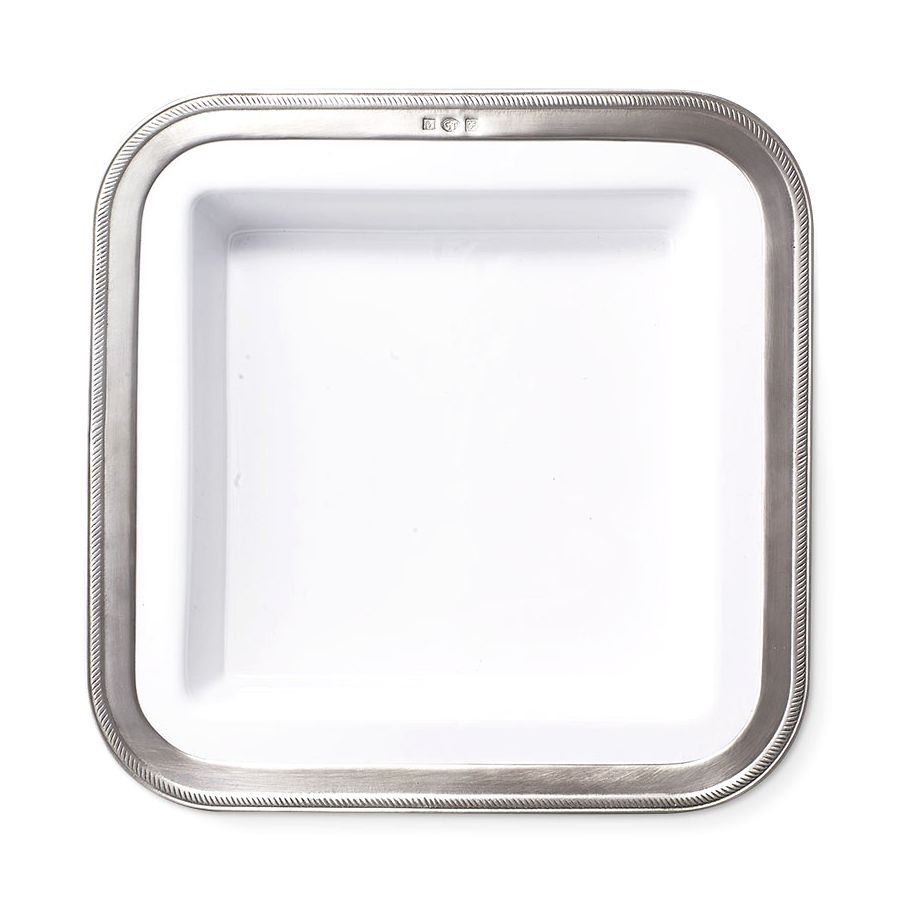 MATCH MATCH PEWTER LUISA SQUARE SERVING DISH