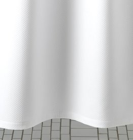 MATOUK MATOUK DIAMOND PIQUE WHITE SHOWER CURTAIN