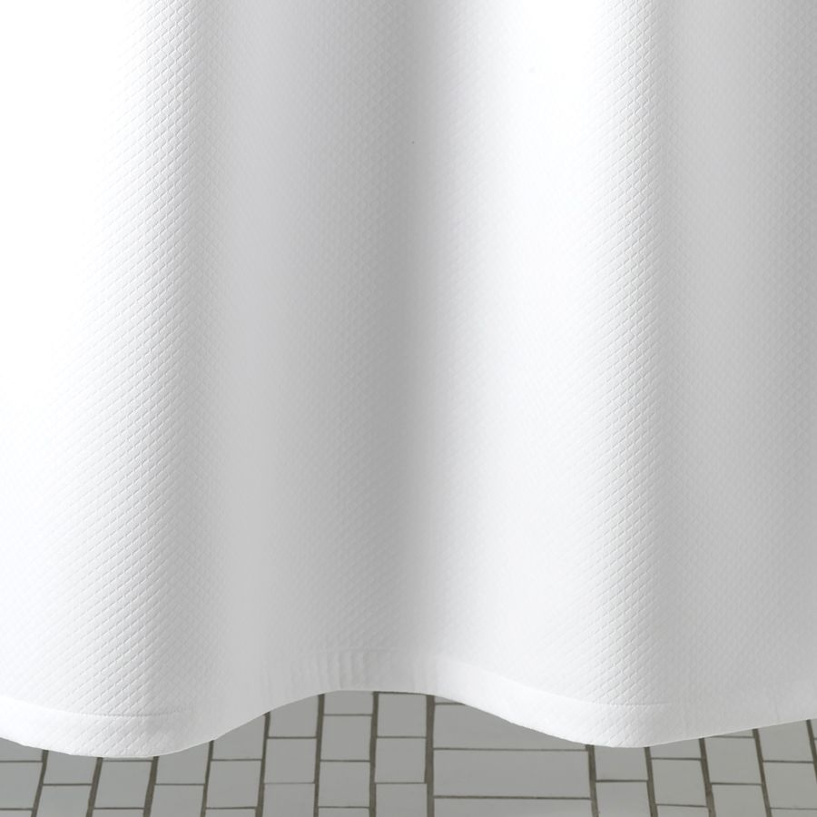 MATOUK MATOUK DIAMOND PIQUE WHITE SHOWER CURTAIN