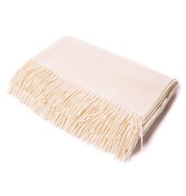 Alicia Adams ALICIA ADAMS IVORY CLASSIC THROW
