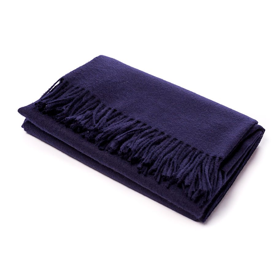 Alicia Adams ALICIA ADAMS NAVY CLASSIC THROW