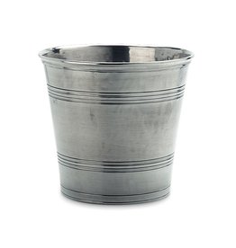 MATCH MATCH PEWTER WASTEBASKET
