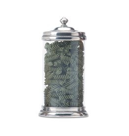 MATCH MATCH PEWTER GLASS CANISTER LARGE