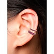 ANITA KO ANITA KO 18K SINGLE ROW PINK SAPPHIRE EAR CUFF