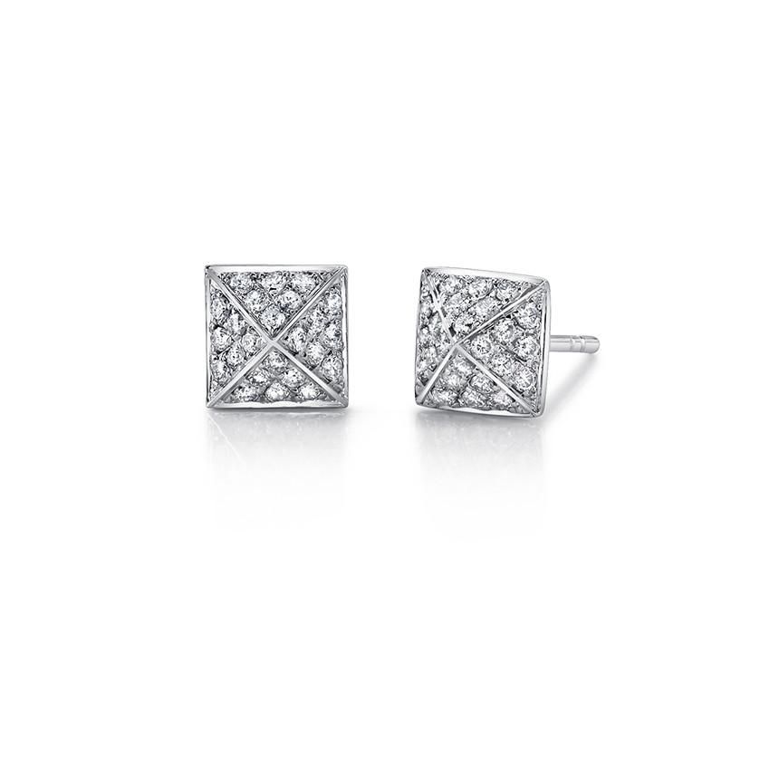 ANITA KO ANITA KO 18K DIAMOND SPIKE STUD EARRINGS