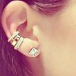 ANITA KO ANITA KO 18K DIAMOND SPIKE STUD EARRINGS