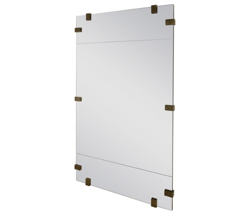 KELLY WEARSTLER PICKFAIR BRASS FLOOR MIRROR