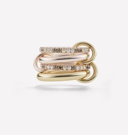SPINELLI KILCOLLIN SPINELLI KILCOLLIN 18K YELLOW & ROSE GOLD CANCER RING 6.5