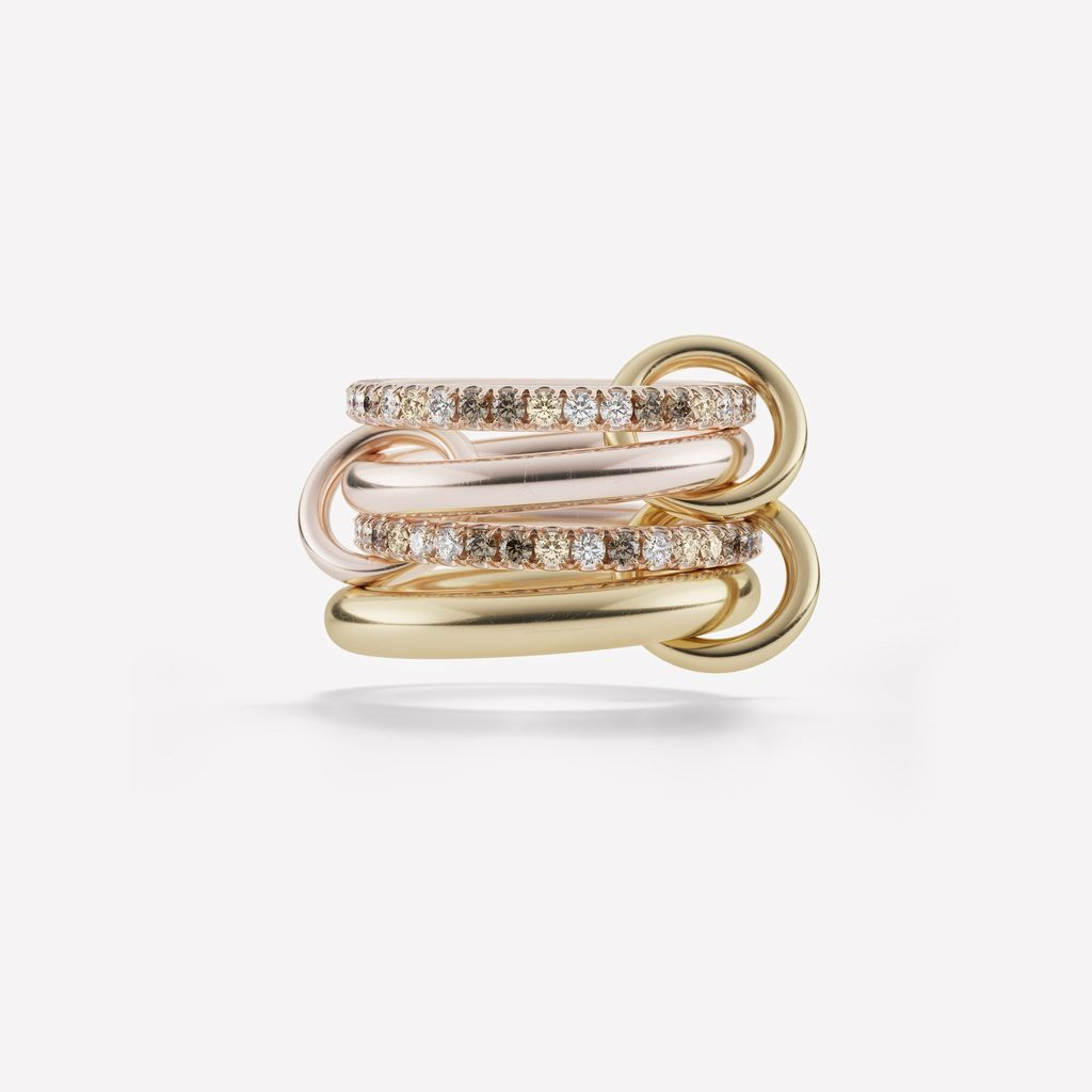 SPINELLI KILCOLLIN 18K YELLOW & ROSE GOLD CANCER RING 6.5