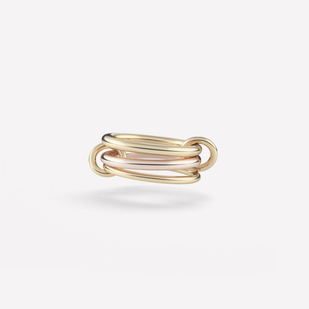 SPINELLI KILCOLLIN SPINELLI KILCOLLIN 18K YELLOW GOLD & ROSE GOLD RANETH RING 6.5