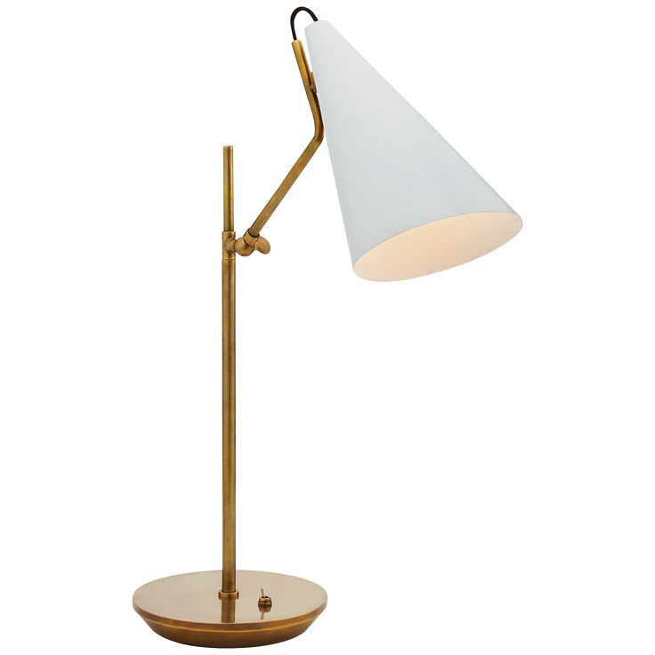 Visual Comfort Kelly Wearstler White Brass Clemente Table Lamp