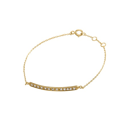 HALLEH JEWELRY HALLEH 18K YELLOW GOLD DIAMOND BAR BRACELET