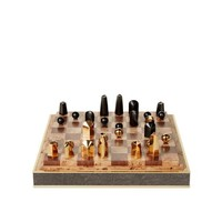 AERIN SHAGREEN CHOCOLATE CHESS SET