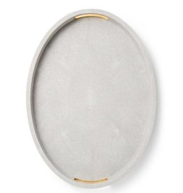 AERIN MODERN SHAGREEN COCKTAIL TRAY DOVE
