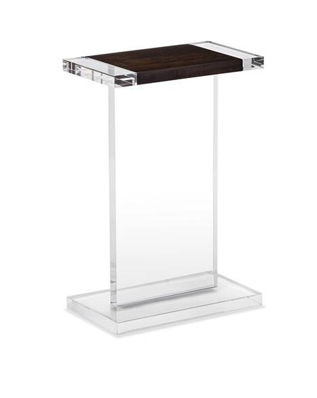 INTERLUDE HOME HEATH ACRYLIC WOOD RECTANGLE DRINK TABLE