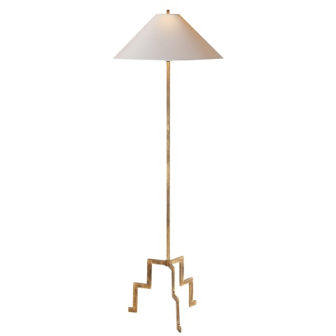 VISUAL COMFORT KELLY WEARSTLER GILDED IRON LANCASTER FLOOR LAMP