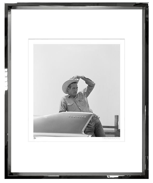 TROWBRIDGE PAUL NEWMAN IN SILVER LEAF FRAME