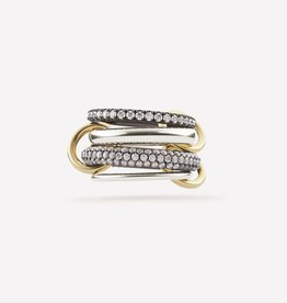 SPINELLI KILCOLLIN SILVER & 18K YELLOW GOLD VEGA RING 7