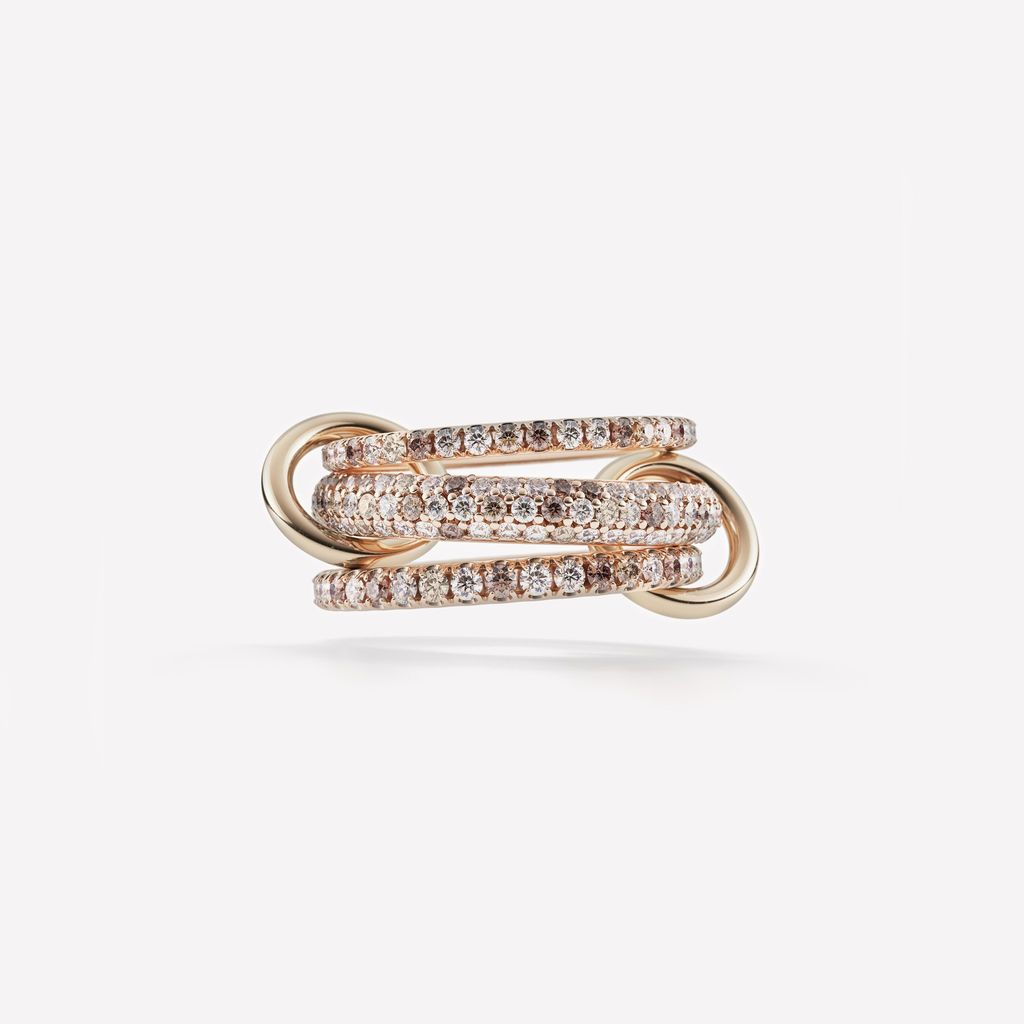 SPINELLI KILCOLLIN 18K ROSE GOLD NOVA ROSE RING