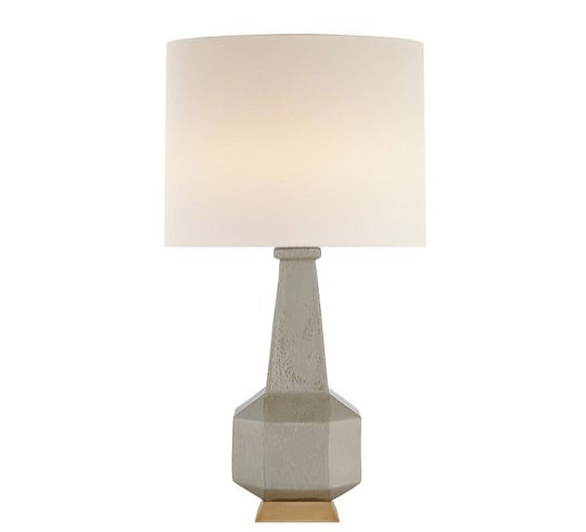 VISUAL COMFORT KELLY WEARSTLER SHELLISH GREY BABETTE TABLE LAMP